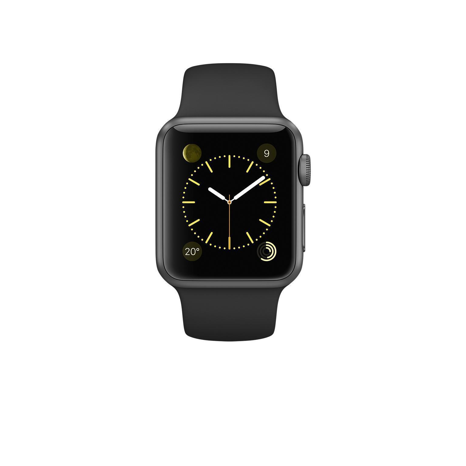 Apple Watch 38 mm - Aluminium Gris sidéral - Bracelet Sport noir
