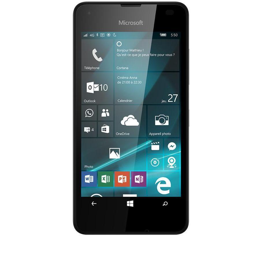 Microsoft Lumia 550 8 Go - Noir - Débloqué